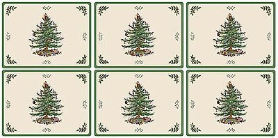 Pimpernel for Spode Christmas Tree Placemats Set of 6