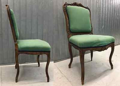 French Antique dining chairs.Set of 4  Regency or Louis XVI period.