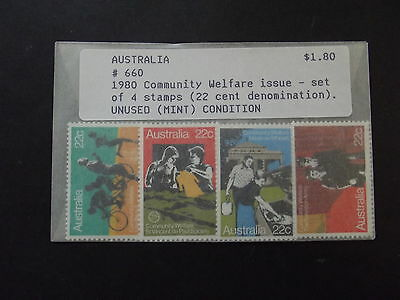 AUSTRALIA - 1980 COMMUNITY WELFARE ISSUE - SET OF 4 STAMPS  X 22c  , MINT