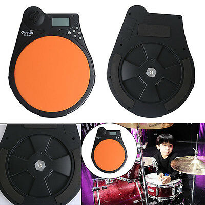 NEW Cherub LCD Digital Electric Drum Pad Metronome Counter for Training Practice