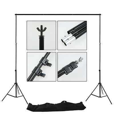 Photo Studio Heavy Duty Adjustable 2x2m Background Backdrop Support Stand Set AU
