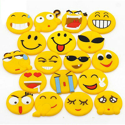 Hot 5pcs Emoji Expression Fridge Magnet Stickers Whiteboard Note Message Holder