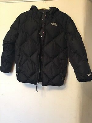Girls North Face Reversible Padded Jacket 550 Tog