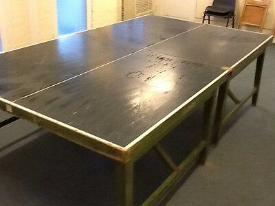 Jacques of London vintage full size wooden table tennis table