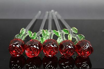 Rose Glass ornament Valentines day mother birthday gift present Hot Flower uk