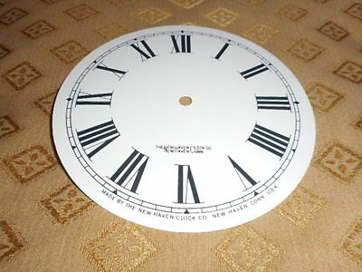 For American Clocks-Round New Haven Paper Clock Dial-170mm M/T- Roman-Cream