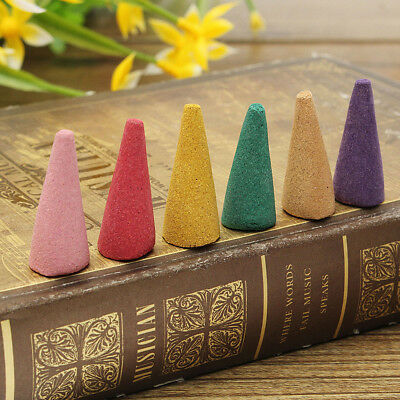 80 Pcs Box Incense Cones Sticks Mixed Scents Fragrance Relax Burner Aromatherapy