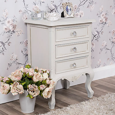 Grey Chest Of Drawers Bedside Table Bedroom Furniture Shabby Vintage Chic Home