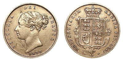 Great Britain Gold Coin Victoria 1878 Gold Half Sovereign Very fine.