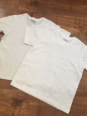 M&s School White T-shirts Age 5-6 Years