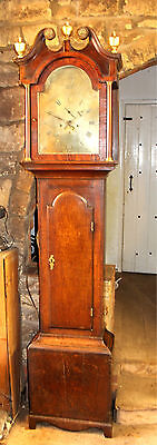 Georgian Oak 8 day Antique Longcase Grandfather Clock C1780
