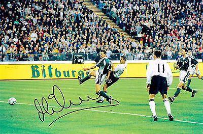 MICHAEL OWEN ENGLAND GERMANY 5-1 HAND SIGNED PHOTO AUTHENTIC GENUINE + COA 12x8
