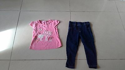 Lovely little girls clothes top and leggings age 3 - 4 years