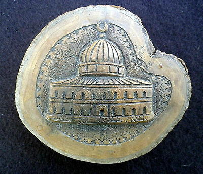 Rare Antique Vintage Palestinian Jerusalem Olive Wood Carving Al Aqsa