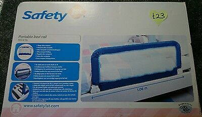 New Single Safety 1st Portable Bed rail Blue (Was £23.00)