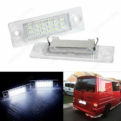 2X Canbus LED Licence Number Plate Light VW Passat Transporter T5 Caddy Multivan
