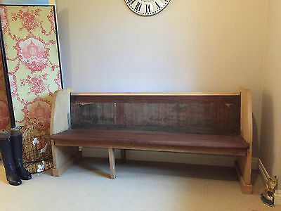 Vintage Rustic Bench Long Seat for Kitchen / Hall Settle Reclaimed Solid Wood
