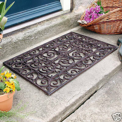 Cast Iron Rectangular Outdoor Doormat, Amazing Quality and Style by Dibor