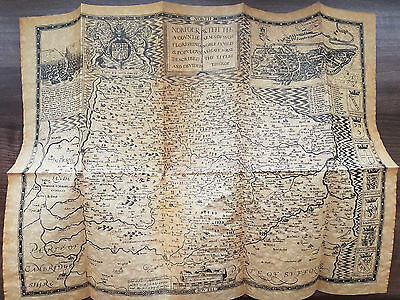 British antique map John Speed beautiful reproduction / copy