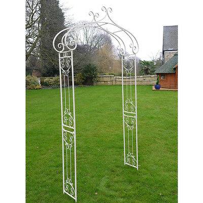 Metal garden arch, off white distressed shaby chic rose arch