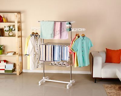 FoxHunter Foldable 3 Tier Clothes Airer Hanger Dryer Stand Rack Indoor FA01 New