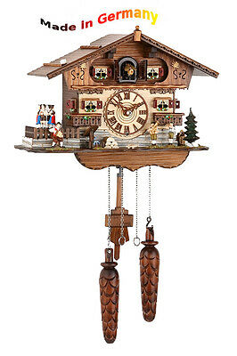 Luxury Cuckoo Clock, Black Forest, Spinning Dancer, Made in Germany, Gift