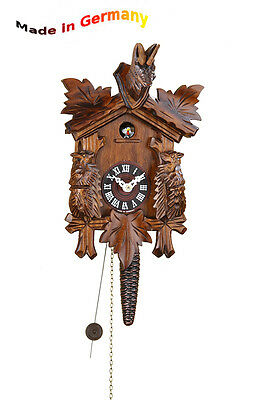 Quarter-Hour Striking Cuckoo Clock,Nut,1-tag-kettenzugwerk Chain-Driven