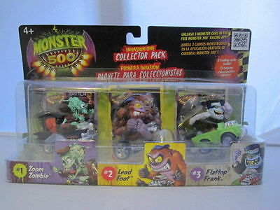Monster 500 Small car & Trading Card Collectors 3 Pack