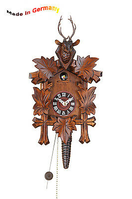 Quarter-hour striking Cuckoo clock,1-day chain-driven movement,Made in Germany,