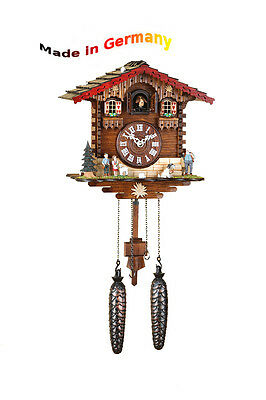 Quartz Cuckoo clock, Black  forest, with Night-time shut-off, Made in Germany