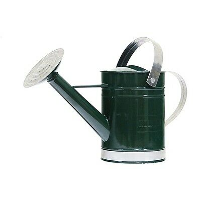 Holman WATERING CAN Two Handles, Galvanised Metal, GREEN *Aust Brand- 1.8L Or 9L