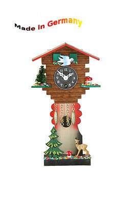 Miniature Pendulum Clock with Spring Movement, Made in Germany, Black Forest,