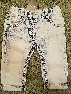 NEXT Baby Girls Jeans 3-6m *NEW*