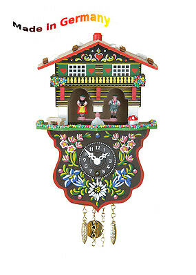Schwarzwald Miniatur Pendulum Clock with Weather Station House, Made in Germany