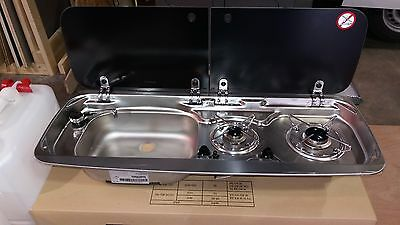 Smev Dometic 9222 Campervan sink and twin hob cooker combi unit with cold tap