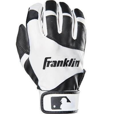 Franklin Sports Sports Youth Classic Batting Glove, Black & White Youth Small