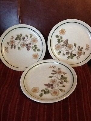 """Autumn Leaves M&S Marks And Spencer Side Plates X3 6.5"""" Diameter"""