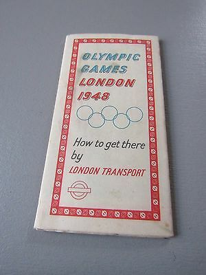 Vintage Olympic Games London 1948 London Transport Map