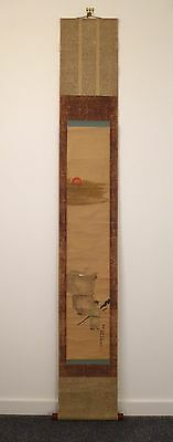 Vintage Japanese kakejiku hanging scroll, 187cm, imported from Kyoto (L659)