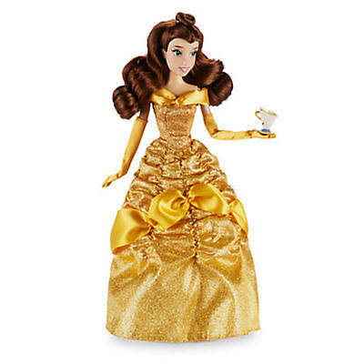 "NEW Disney Store Beauty & The Beast Belle Classic 12"" Doll With Chip Figure"