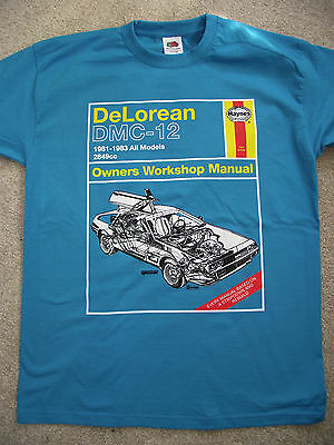 DeLorean DMC-12 BTTF  'Haynes' Manual, Childs/Adults T-Shirts Exclusive, BTTF