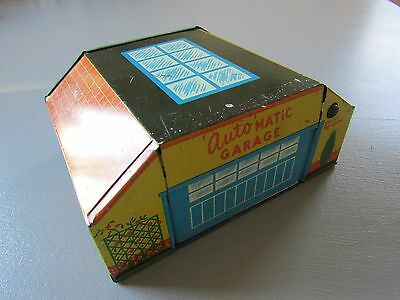 Vintage Glam Toy Production Tinplate Automatic Garage GTP 584 C1950S