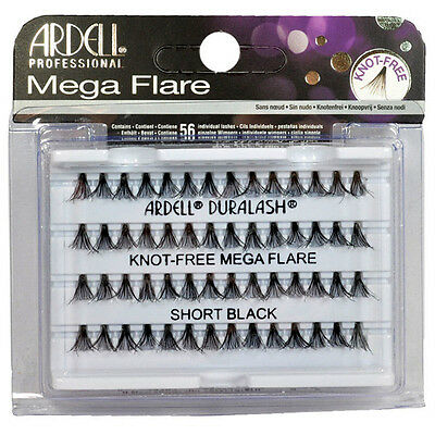 Ardell Mega Flare Black Individual Lashes Knot Free All Sizes Available