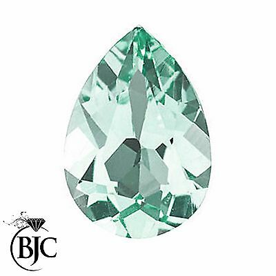 BJC® Loose Pear Cut Natural Untreated Aquamarine Stones AA Grade Multiple Sizes