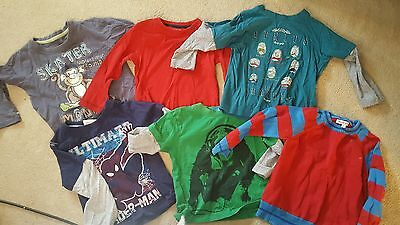 5x boys long sleeved t-shirt & 1 jumper aged 2-3 years