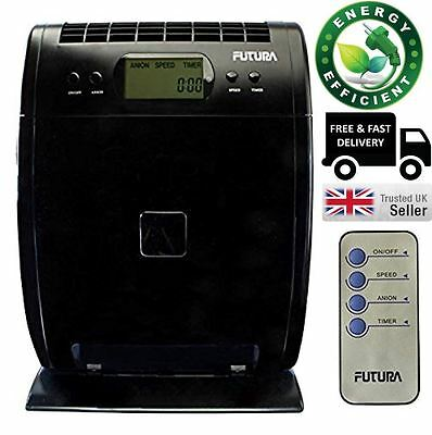 Futura Air Purifier HEPA With Ionizer,LCD Display,Timer & Remote Control 1089051