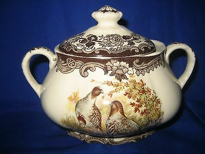 Royal Worcester  Palissy GAME BIRD Series  SUGAR BOWL with LID