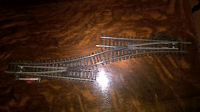 A Pair of Hornby R612 Steel LH Points Turnout