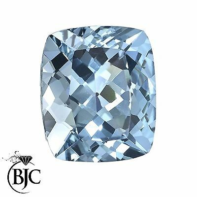BJC® Loose Cushion Cut Natural Untreated Aquamarine Stones AA Grade Mixed Sizes