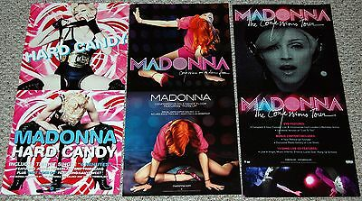 MADONNA 3pc 2-Sided Store Promo Display Poster Lot Confessions Hard Candy